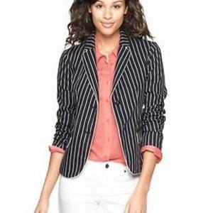 Gap Academy blazer navy blue and white striped 10